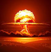 Explosión nuclear — Vector de stock