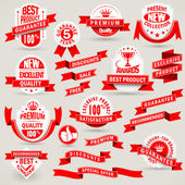 Premium set of labels and ribbons — Stock Vector