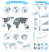 World Map infographic — Stock Vector