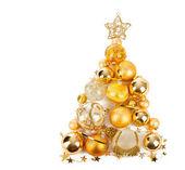ゴールデン ボール クリスマス ツリー — ストック写真