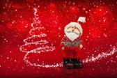 Santa and Christmas Tree — Stock Photo