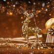 Christmas decoration with deer — Foto Stock