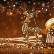 Christmas decoration with deer — Stock fotografie
