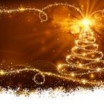 Magic Christmas Tree — Stock Vector
