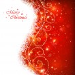 Christmas red background — Stock Vector #33711555