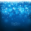 Christmas blue background — Imagen vectorial