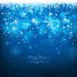 Stock vektor: Christmas blue background