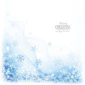 Christmas background with snowflakes — Stock Vector