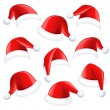 Santa hats — Stockvektor  #34474527