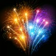 Vector de stock : Colorful fireworks