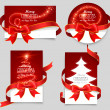 Gift cards with red bows — Stockvectorbeeld