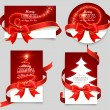 Gift cards with red bows — Vektorgrafik