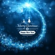 Christmas blue background — Image vectorielle