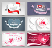 Valentines Day Cards — Stock Vector