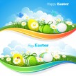 Easter colored backgrounds — Stock Vector