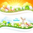 Stock Vector: Easter backgrounds