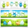 Collection of easter banners — Stock Vector #42615443