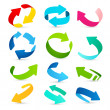Set of colored arrows icons. Vector — Stock Vector #46810693