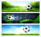 Set of football banners — 图库矢量图片