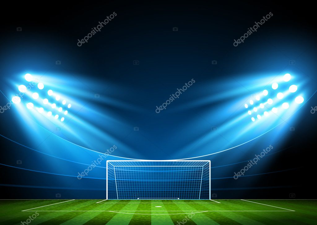 Футбольный фон мяч