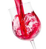Kırmızı şarap cam — Stok fotoğraf