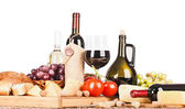 Wine and food isolated  — Foto Stock