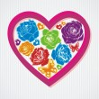 Floral vector heart — Vector de stock #18582059