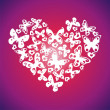 Bright vector heart - Stock Vector