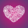 Vector ornate heart — Vector de stock #18584819