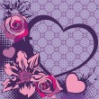 Royalty-Free Stock  : Floral vector heart