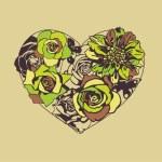Floral vector heart — Stock Vector #18588485