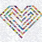 Corazón colorido vector — Vector de stock