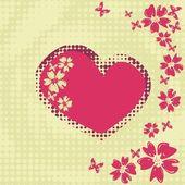 Cœur Floral vector — Vecteur