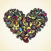 Floral διάνυσμα καρδιά — Διανυσματικό Αρχείο