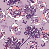 Floral nahtlose Textur — Stockvektor