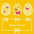 Easter greeting postcard - Stock Vector