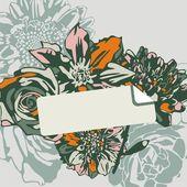 цветочная открытка — Cтоковый вектор