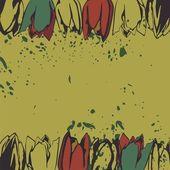 Floral postcard — Stok Vektör
