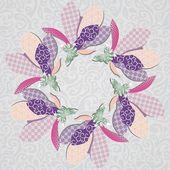 花卉明信片 — 图库矢量图片