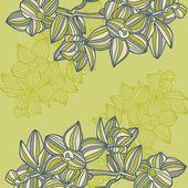 Floral καρτ ποστάλ — Διανυσματικό Αρχείο