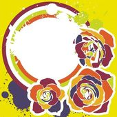 Carte postale floral — Vecteur