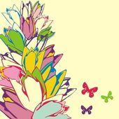 Floral postcard — Stockvector