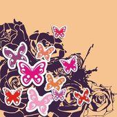 Floral vector postcard — Stock Vector