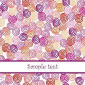 Floral vector postcard — Vector de stock
