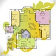 Plan of apartment - Image vectorielle