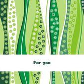Ornate vector postcard — Stock Vector
