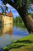City wall of Weissenburg, Bavaria — Stock Photo