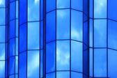 Nowoczesne fasady niebieski — Zdjęcie stockowe