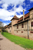 Medieval city walls of Riquewihr — Stock Photo