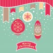 Christmas retro card — Stock Vector
